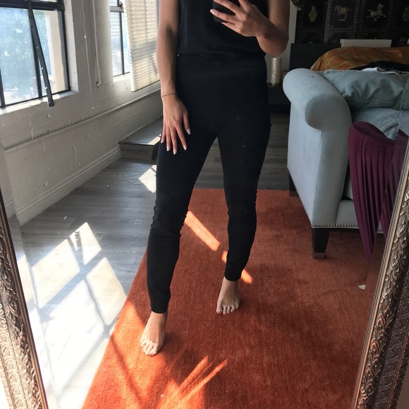 Zara Pants - Faux stretch suede pants - stretch